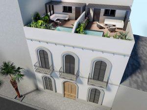 Construcción de edificio Plurifamiliar de 4 viviendas